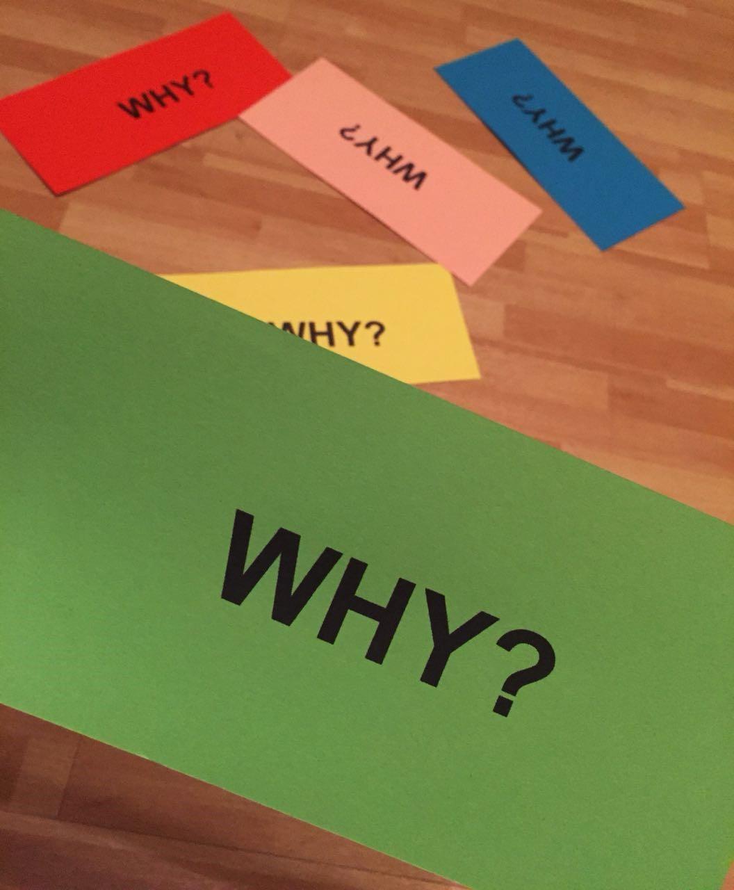 Bild über die fünf-mal-warum Frage